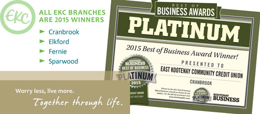 EKC branches win Platinum