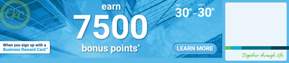 Apply today for 7500 bonus points