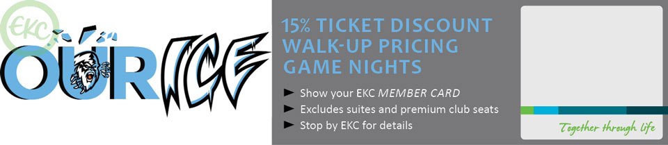 Enjoy ICE walk up pricing for EKC Members