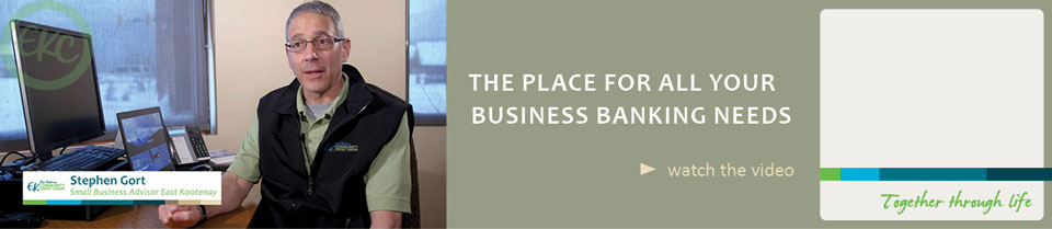 Business banking at EKC - learn more