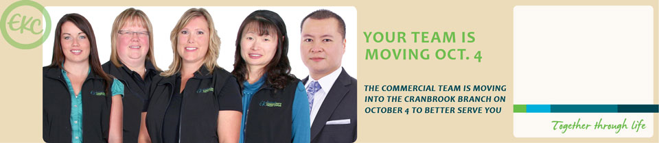 Commercial Team is moving October 4