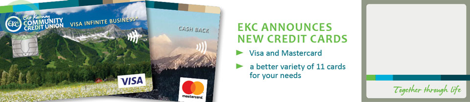 Announcing new credit cards