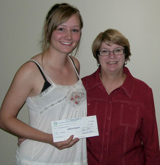 Thea Rodges receives the 2012 Labonte Scholarship